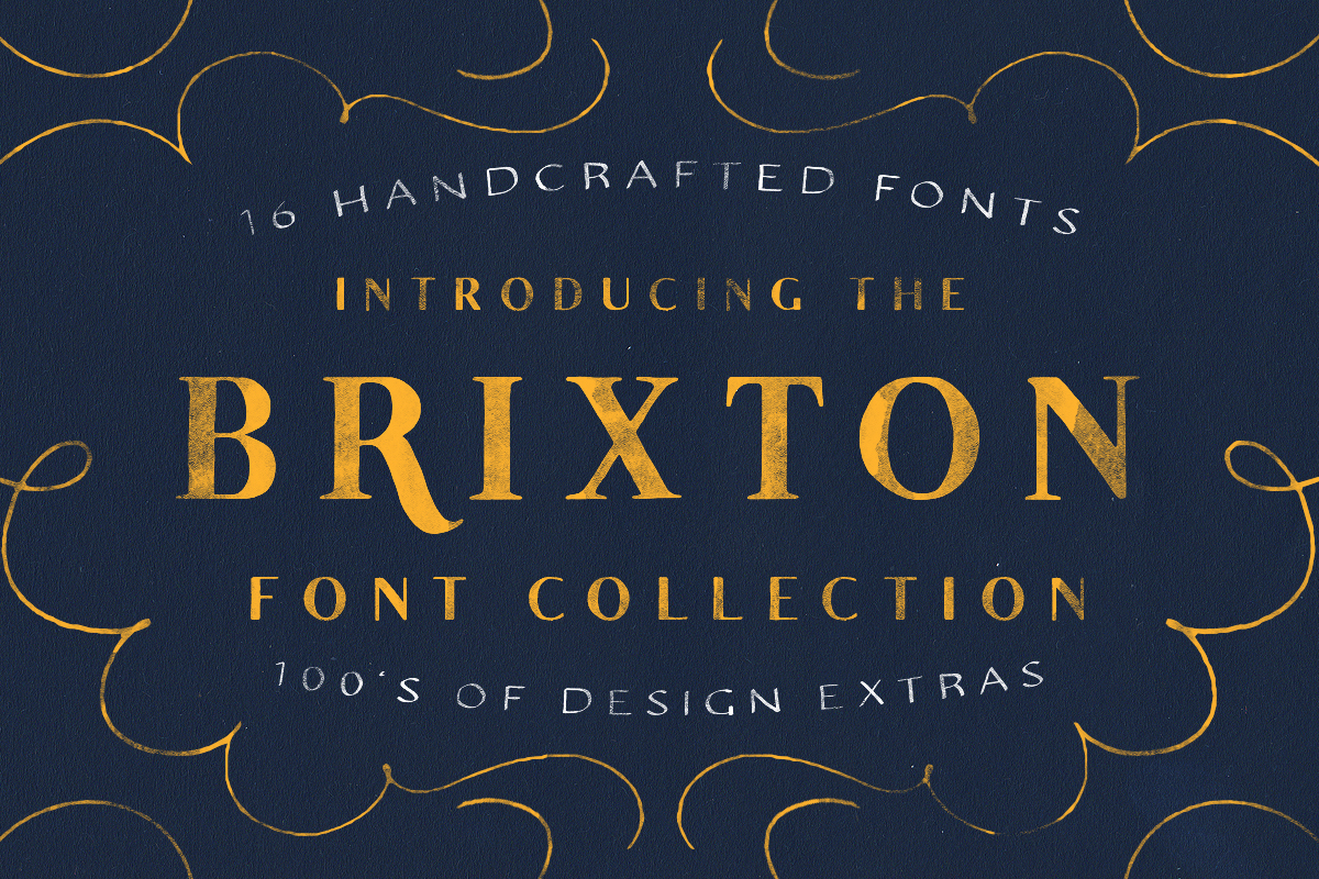 The Brixton Font Collection + Extras! by Tom Chalky