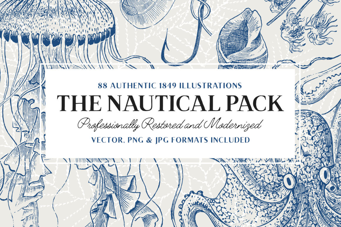 88 Nautical Illustrations Pack