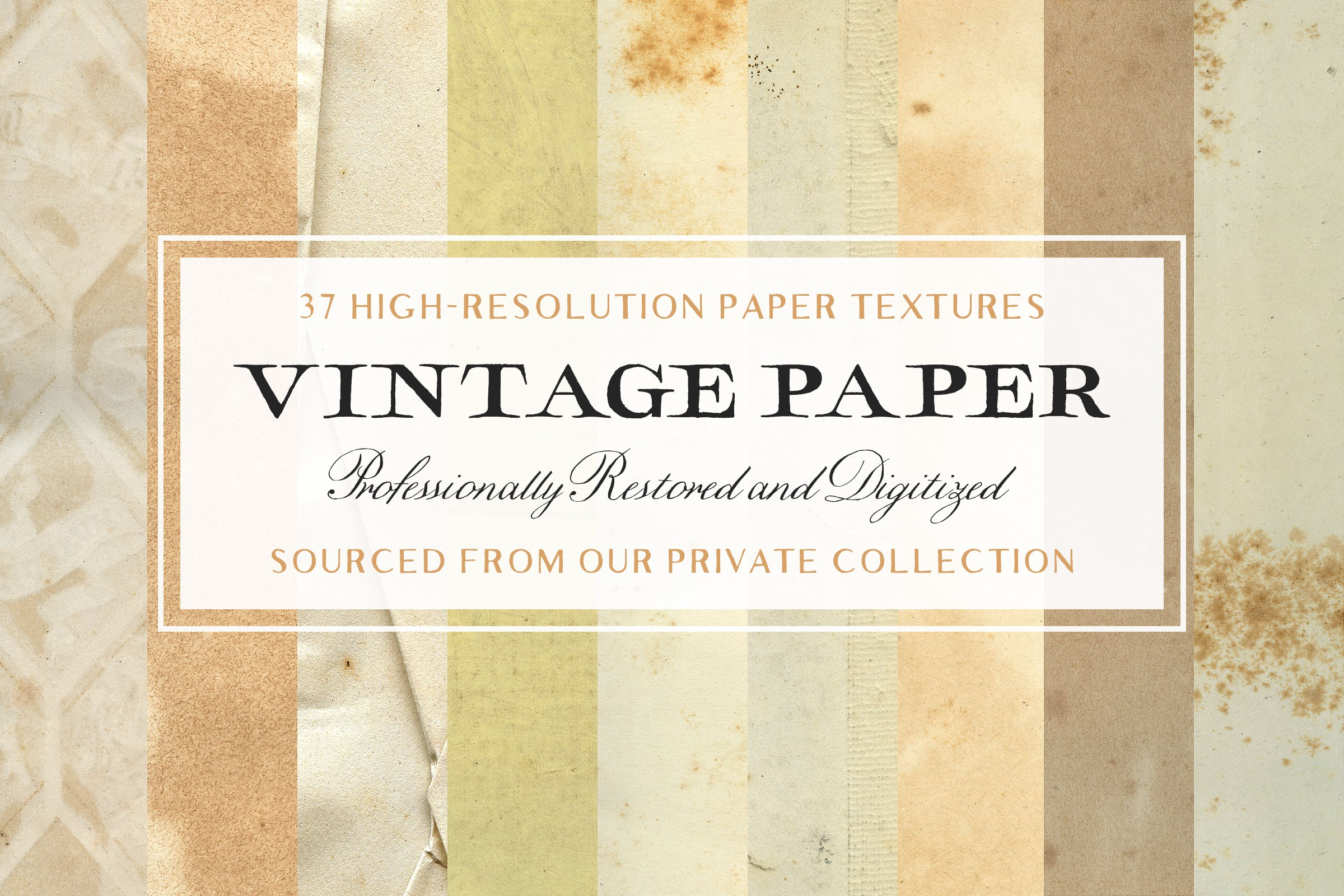 37 Vintage Paper Textures - Tom Chalky