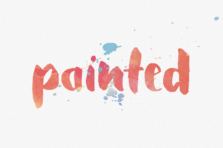 How to Create Watercolor Typography In Photoshop (Free