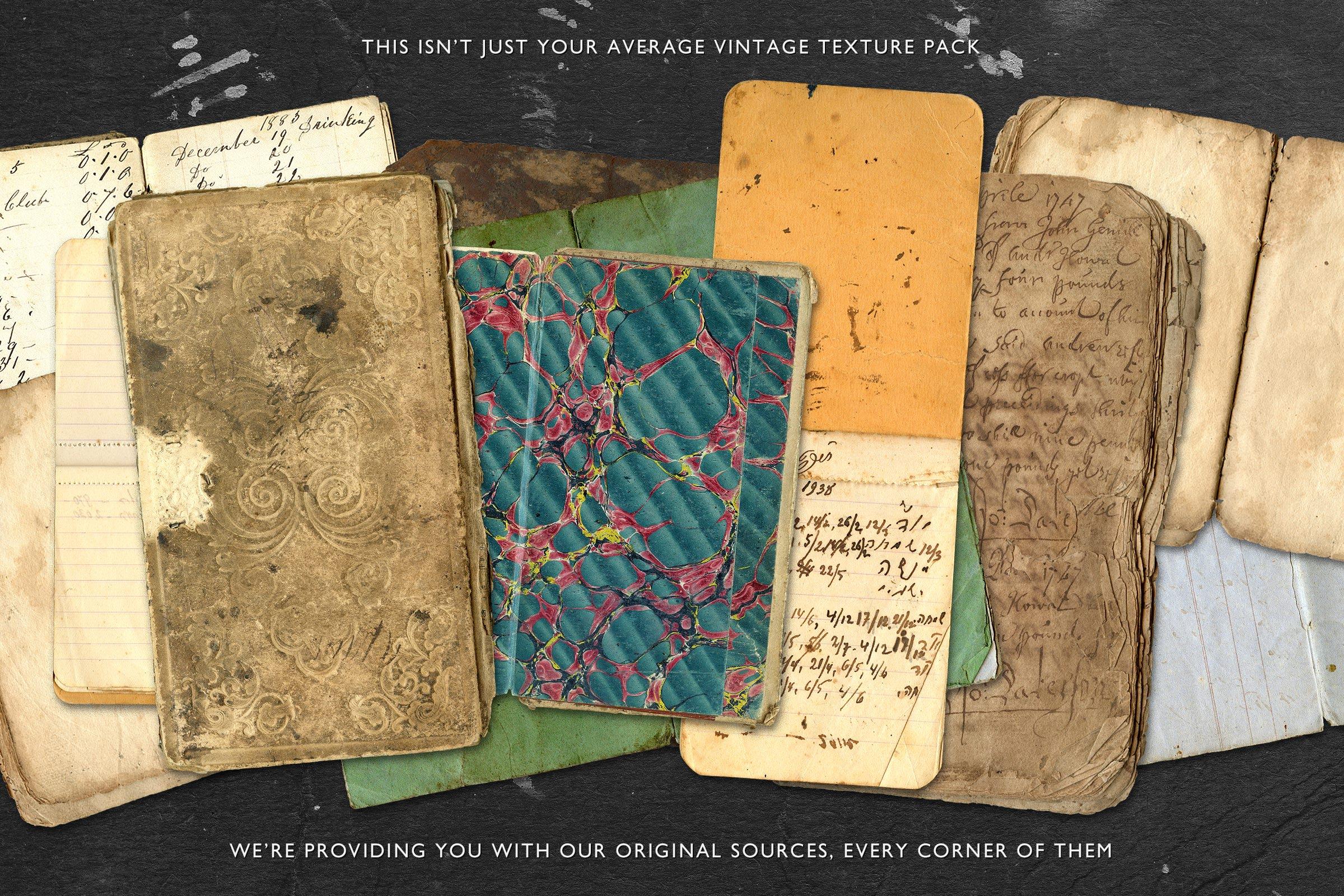 Vintage Book & Paper Texture Pack