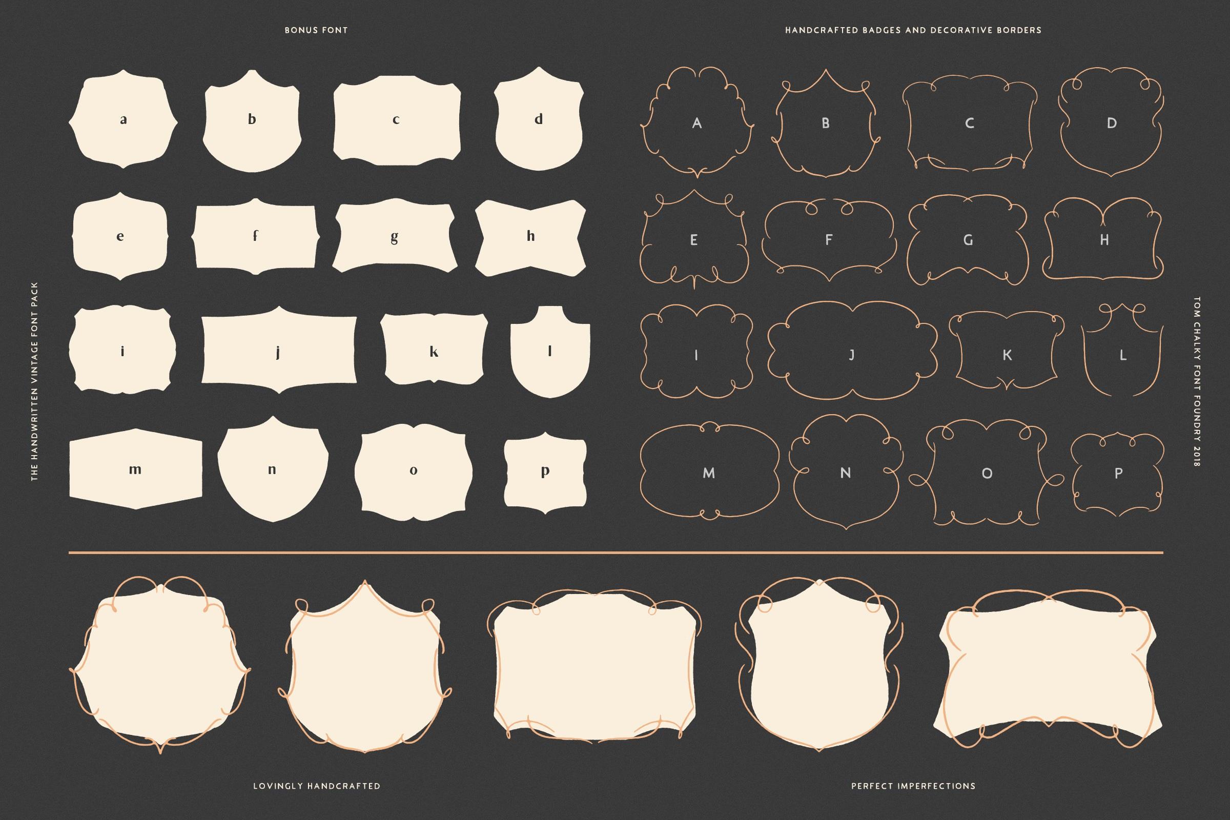 Vintage Fonts Pack - Tom Chalky