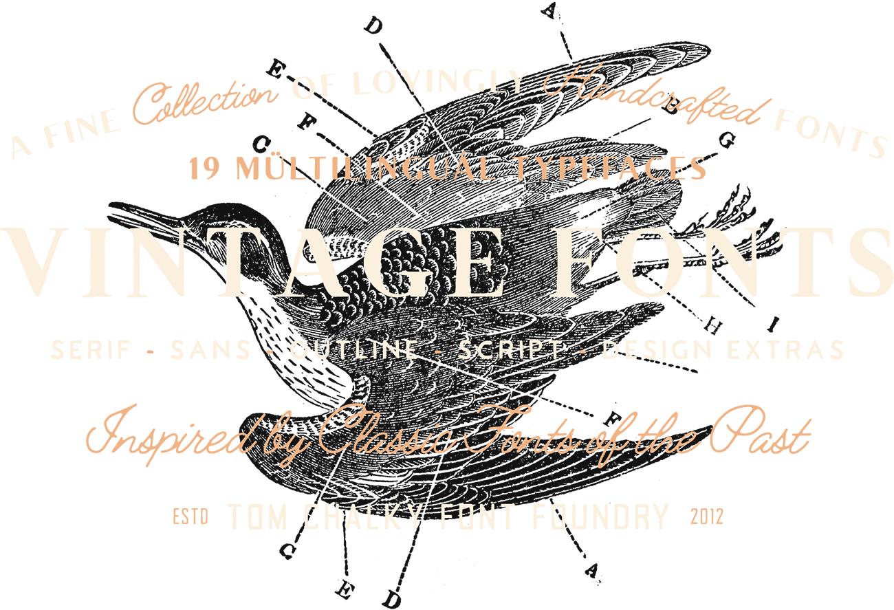 The Handcrafted Vintage Fonts Pack - Tom Chalky