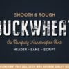 Buckwheat - Vintage Font Collection (Rough & Smooth Styles Included!)