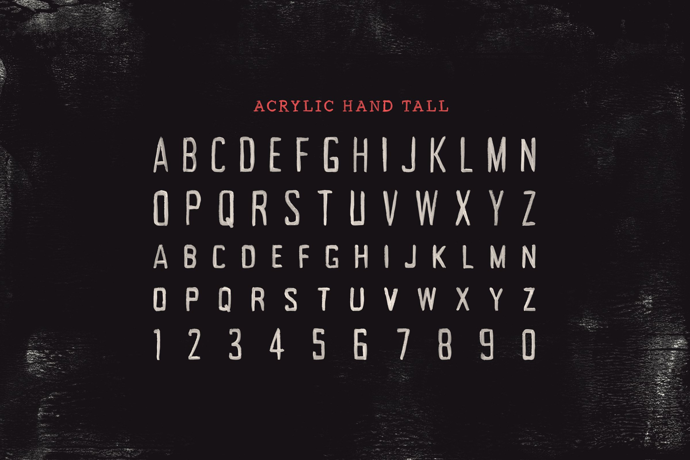 Acrylic Hand - Handpainted SVG Font Collection