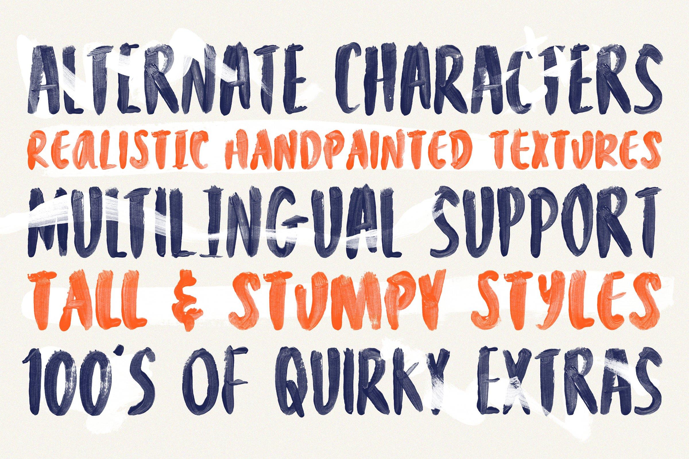 Bravura - Handpainted SVG Font Duo & Extras!