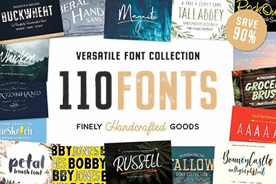 Handcrafted Fonts Bundle