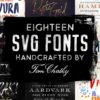 The Handcrafted SVG Font Bundle