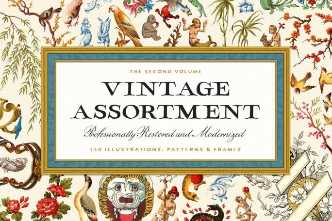 vintage illustrations assortment volume 2